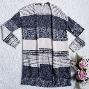 Gap for Good Petite Striped Knit Cardigan Sweater